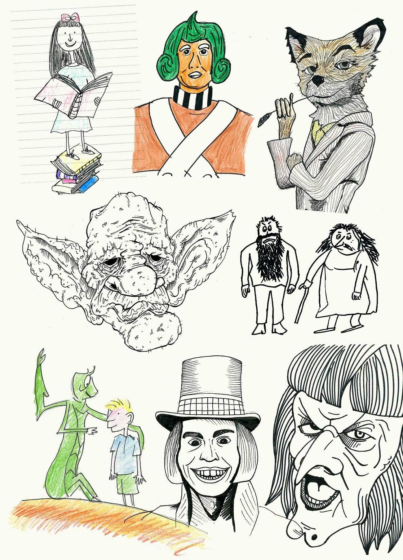 Dahl Doodles