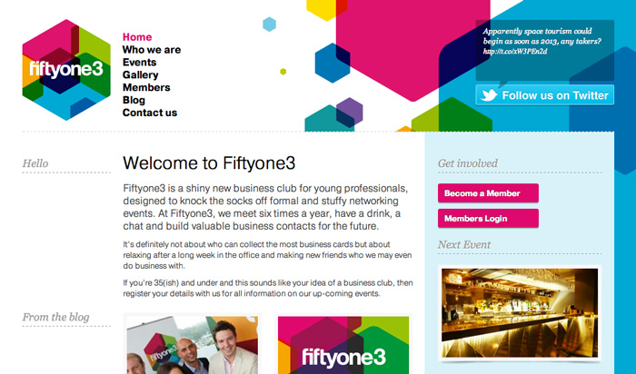 Fiftyone3 Website