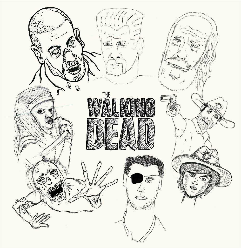 Walking Dead Doodles