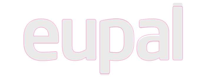 Customisation of the font Neo Sans for the Eupal wordmark