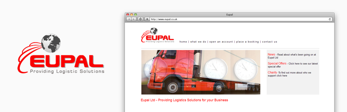Old Eupal logo and website